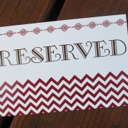 Jazlyn J Reserved Sign