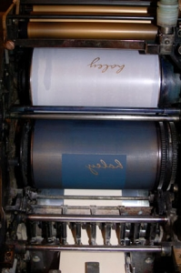Press with plate