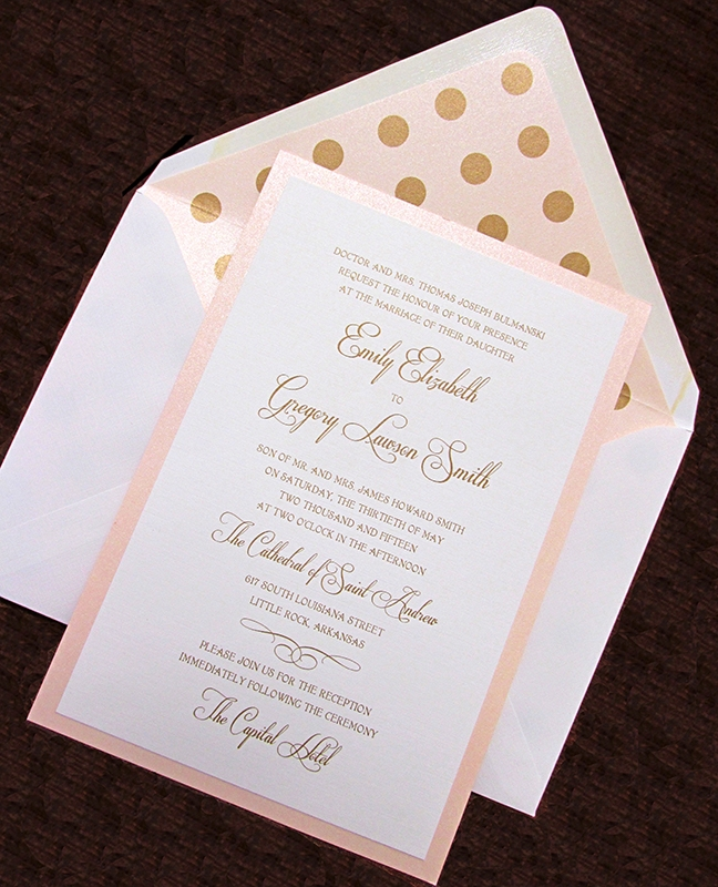 Wedding Invitations Emily Post Etiquette: HOBART PRINT STUDIO